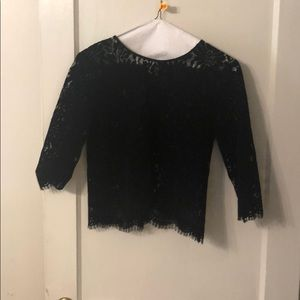 Zara Tops - Zara Velvet Lace Top. Never worn